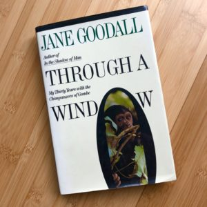 Jane Goodall book Through A Window